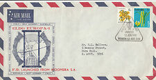 Stamp Australia EUROPA Rocket F9 satellite Woomera launch souvenir airmail cover