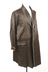 Vintage 60s Satin Smoking Jacket House Coat Robe Mens Size 40