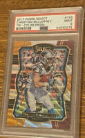 59/149 RC Christian McCaffrey 2017 Select Tri-Color Prizm #155 Rookie PSA 9 SP
