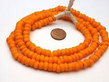 Strang Venise Murano Antique perles de verre orange