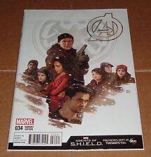 Avengers #34 Agents of S.H.I.E.L.D. Variant Edition 1st Print Hickman