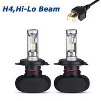 H4 HB2 9003 HID White Xenon High/Low Beam 50W 4000LM LED Headlight Bulbs 6000K