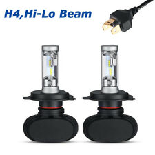 H4 HB2 9003 HID White Xenon High/Low Beam 50W 4000LM LED Headlight Bulbs 6000K