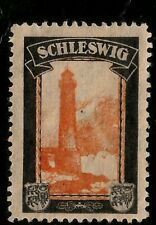 WWI Germany Losses Lost Territories - Schleswig Mint Cinderella Stamp Lighthouse