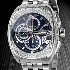 Chronotech  Mens Sport Chronograph Multi Function Prismatic Blue Sapphire Dial