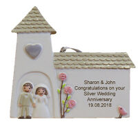 Silver (25th) Wedding Anniversary Personalised Engraved Gift
