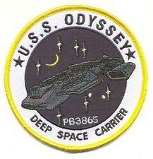 Stargate Atlantis Ecusson de L'U.S.S Odyssey avec scratch USS Odyssey logo patch