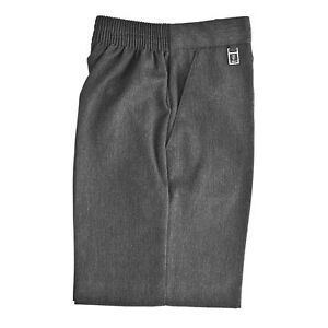 Zeco School Uniform Boys Elastic Back Pull - Up Shorts (2-8 years) Grey, Navy
