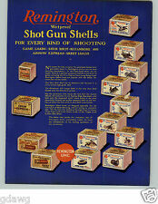 1929 PAPER AD Remington Shotgun Shells Ammo Ammunition Box Boxes Buck Shot Duck