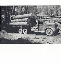 VINTAGE RARE PHOTO  WEST SIDE LUMBER TRUCK, TUOLUMNE CO.  ,CAL.4X6