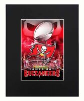 Tampa Bay Buccaneers super bowl champions Helmet Logo Football NFL Print Matted