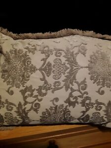 Grey Velvet Damask  Cushion