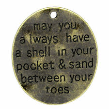 4 Word Pendants Quote Charms Ocean Quote Pendants Nautical Charms