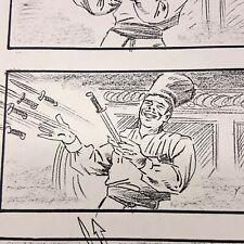 THE ADDAMS FAMILY - Production Used Storyboard - Gomez Mamushka with Knives