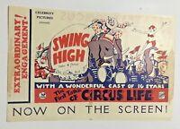 VINTAGE 1930 SWING HIGH CIRCUS MOVIE AUSTRALIAN HERALD HELEN TWELVETREES VGC!!!