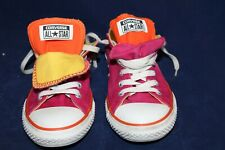 Converse All Star Low Top Shoes Double Tongue Womens 5 Hot Pink Orange