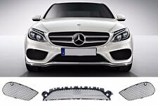 NEW GENUINE MERCEDES BENZ MB C CLASS W205 AMG FRONT BUMPER LOWER GRILL SET