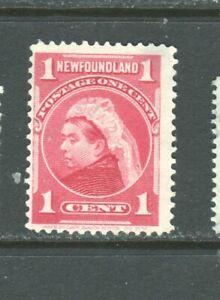NEWFOUNDLAND #79 VICTORIA  MINT  NO GUM