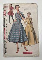 Vintage Simplicity Pattern #4474 Housecoat, Housedress Lounge Coat Size 14 Uncut