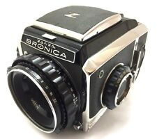【  Excellent+++ 】 Zenza Bronica S2 Late Model  w/ Nikkor-P 75mm f/2.8 from Japan