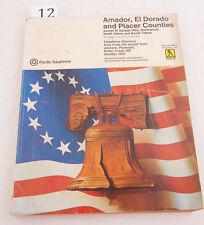 Amador El Dorado Placer Pac Tel 1975 Directory Phone Book (D3L-12) Yellow Pages