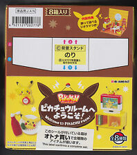 Welcome to Pikachu Room Re-Ment Miniature Figure Full Complete Set (8) Box Japan