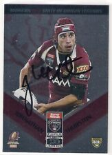 SIGNED JOHNATHAN THURSTON QLD ORIGIN MAROONS MODERN LEGENDS 2010 NRL CARD RARE