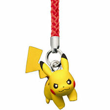 Pokemon GO PIKACHU Netsuke Cell Phone Strap Figure Toy Black White BW Movie Tomy