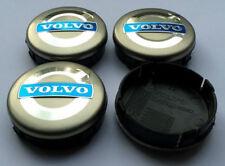 4x 64mm SILVER VOLVO ALLOY WHEEL CENTRECAPS C30 C70 S40 V50 S60 V60 V70 S80 XC90