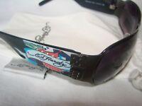 Ed Hardy EHS 037 Sunglasses Winner Take All Dice Skulls Black Cleaner Bag