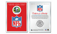 DALLAS COWBOYS NFL Helmet JFK Half Dollar Coin w/ NFL Display Case LICENSED
