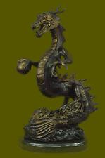 Huge Sale Dragon Fantasy Mythology Gargoyle Unique Bronze Statue Sculpture