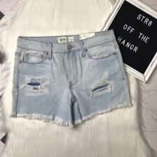 Mudd mid rise distressed shorts size 7 blue jean shorts NWT