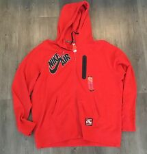 Nike $90 Air Bonded Full Zip Hoodie Red Sweatshirt Jacket (689371 657) - XXL