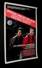 Original AMERICAN WEREWOLF IN LONDON Advance Movie Theatre Poster ROLLED!