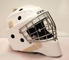 New CCM GF Pro return Sr goalie mask white senior large ice hockey goal helmet