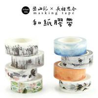 DIY The 4 Seasons Washi Masking Decorative Paper Tape Mountain&Poetry Cute New