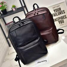 Retro Men Women Leather Backpack Laptop Satchel Travel School Bag Rucksack HOT