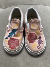 Vans Girls Pink Sneakers Shoes Size 6 Pink Beach Stars Delphine
