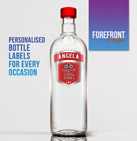 Personalised Vodka bottle label -  PERFECT VALENTINES GIFT/PRESENT