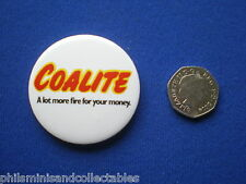 Coalite - A lot More Fire for your Money    pin badge   1980s