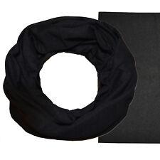 Multifunktionstuch Schlauch Tuch Schal Halstuch Loop Rundschal schwarz