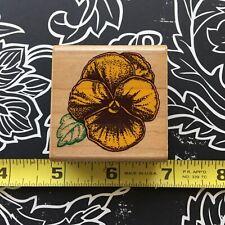 Inkadinkado Pansy Viola Flower 4055 Rubber Stamp Garden Floral Botanical