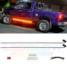 "LEDGlow 2pc 70"" Amber Side Marker Running Board with White LED Lighting Kit"