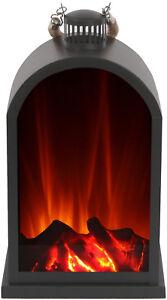 Laterne mit LED-Flammeneffekt von El Fuego® Dekolicht Licht mit Batteriebetrieb
