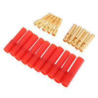 10Pcs HXT 4mm Banana Connector Bullet Plug Male/Female for RC Lipo Battery