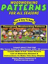 WHIMSICAL  THANKSGIVING YARD ART, HALLOWEEN WOODWORKING 8 PATTERN IN SET PLAN