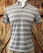 Peter Millar Men's Medium Summer Comfort Polo Shirt Gray Polyester Spandex Golf