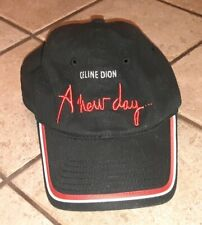 Celine Dion A New Day Tour Baseball Hat Cap Adult Las Vegas Concert Promo Black