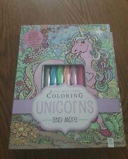 Kaleidoscope Coloring Unicorns & More Kit Pastel Markers Glitter Glue Magical